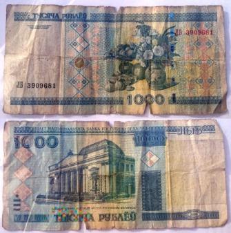 Białoruś, 1000 rubli 2000