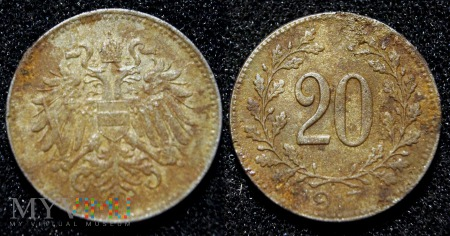 Austria, 20 heller 1917