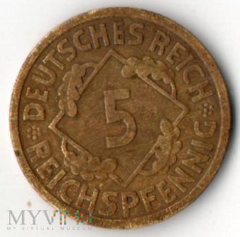 5 Reichspfennig 1925 A, Republika Weimarska