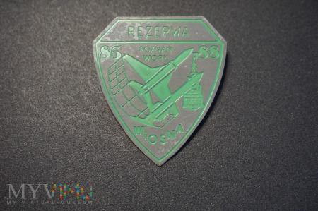 Odznaka Rezerwy Wiosna 86/88 WOPK - Poznań