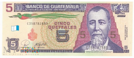 Gwatemala - 5 quetzali (2008)