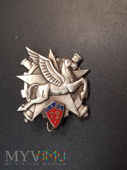 Odznaka 72 Pułk Artylerii Lekkiej - Francja