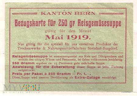 8.3a-Kanton Brno 1919 kartka żywnościowa