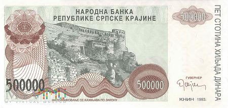 Chorwacja - 500 000 dinarów (1993)