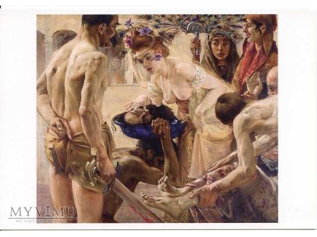 Kat podaje Salome ściętą głowę św. Jana