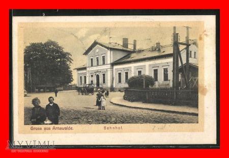 CHOSZCZNO Arnswalde Dworzec kolejowy