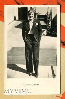 Marlene Dietrich Łotwa Pocztówka papieros Latvia