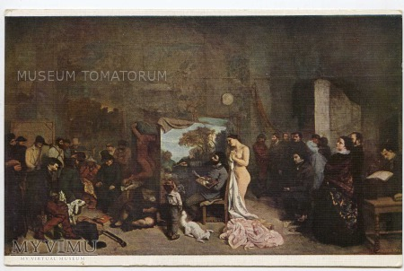 Duże zdjęcie Courbet - W atelier malarza