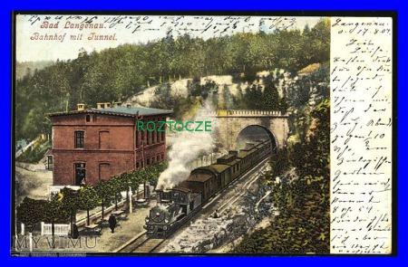 DŁUGOPOLE ZDRÓJ Bad Langenau , Dworzec kolejowy