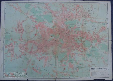 Mapa Lwowa (Lemberg) 1942 rok