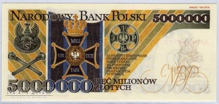 """MC xx - 5000000 Złotych - 1995 - seria """"AA"""""""