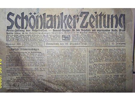 Gazeta z 1922r.