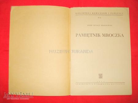"""""""Pamiętnik Mroczka"""" - Józef Ignacy Kraszewski"""