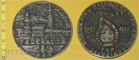 Medal kolejowy - związkowy Federacji ZZK