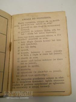 Książeczka wojskowa 6 p.s.k.. , 69 p.p.