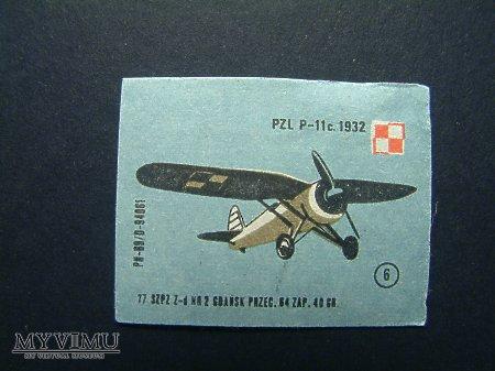 Etykieta - PZL- P11c.1932