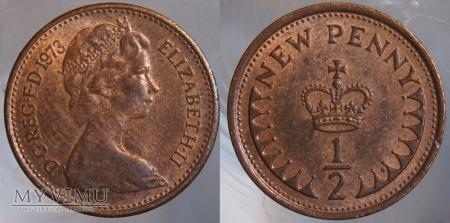 Wielka Brytania, half penny 1973