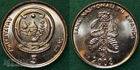 Rwanda, 5 Francs 2003r