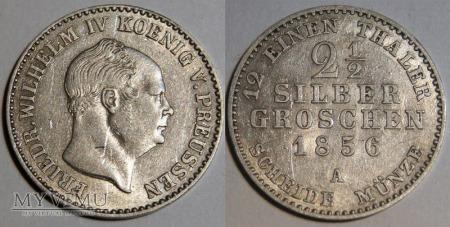 Niemcy, 1856, 2½ Silber Groschen