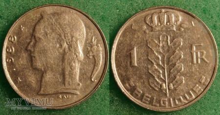 Belgia, 1 Franc 1988