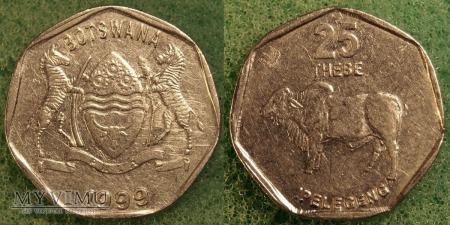Botswana, 25 THEBE 1999