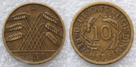 Niemcy, 1930, 10 Reichspfennig