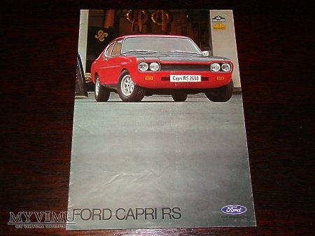 Prospekt FORD CAPRI RS 2600