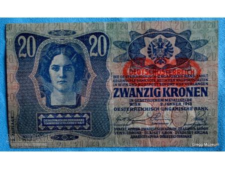 20 Koron Austrowęgry 1913
