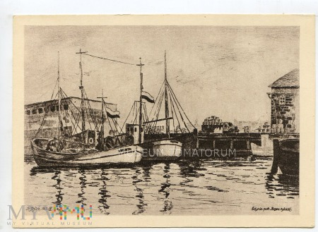 Gdynia - Basen rybacki - Port - lata 50-te