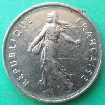 Duże zdjęcie 5 Francs 1970 r. Francja