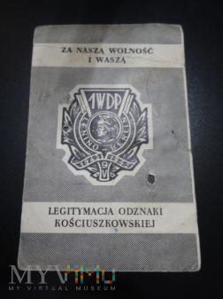Duże zdjęcie Legitymacja i Odznaka Kościuszkowska 1WDP z 1956
