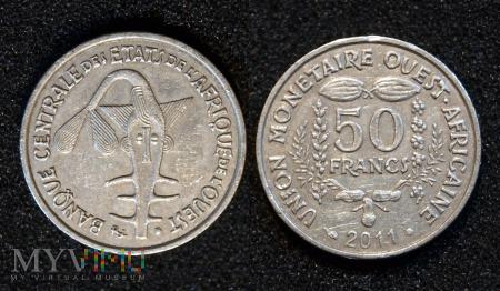 Western Africa, 50 Francs 2011