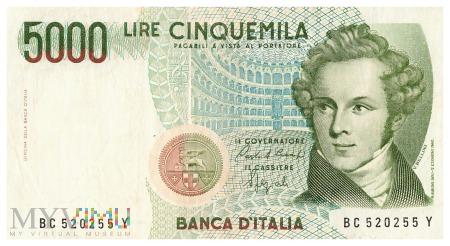 Włochy - 5 000 lirów (1992)