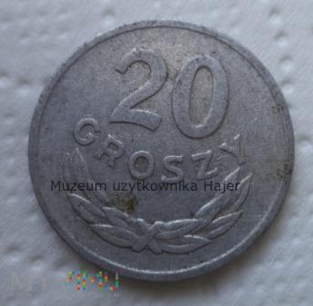 1963 rok - 20 groszy - aluminium - PRL
