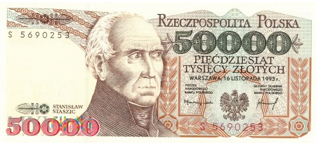 Polska - 50 000 złotych (1993)