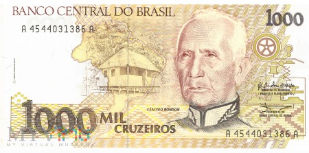Brazylia - 1 000 cruzeiros (1990)