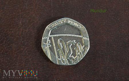 Duże zdjęcie Moneta brytyjska: 20 pence 2015