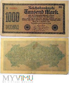 Duże zdjęcie 1000 Mark, 1922 BB