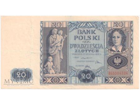 20 złotych 11 listopada 1936 rok seria BG