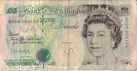 Wielka Brytania - 5 funtów (1998)