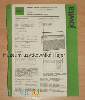Jowita - radio schemat 1976