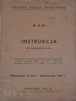 R23-1947 Instrukcja dla dyspozytorów ruchu