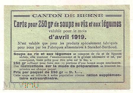8.4a-Kanton Brno 1919 kartka żywnościowa