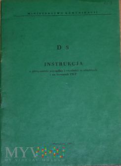 D5-1987 Instrukcja o utrzymaniu porządku na PKP