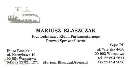 Duże zdjęcie Mariusz Błaszczak