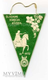 """Proporczyk - """"ŚLADAMI KSIĘCIA JÓZEFA"""" 1972"""