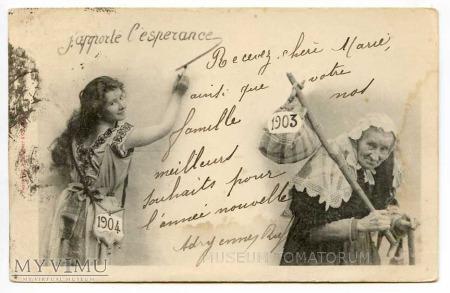 Duże zdjęcie Nowy Rok 1904