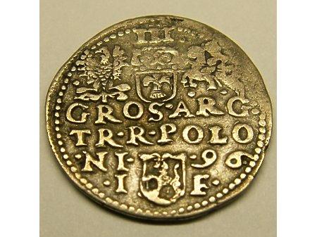 Trojak mennica Olkusz- 1596 r-rzadki