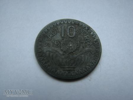 10 PFENNIG STADT DUREN 1917