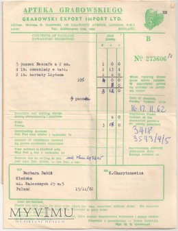 Apteka Grabowskiego '62